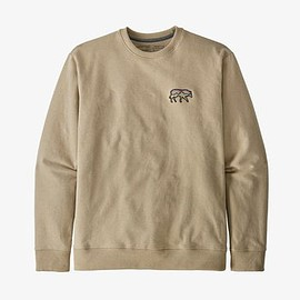 patagonia - Men's Back for Good Uprisal Crew Sweatshirt - El Cap Khaki w/Wolf ECKW