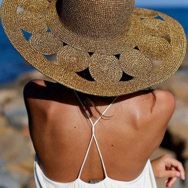 dressy summer hat with wide brim