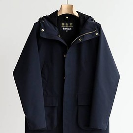 Barbour, EDIFICE - EDIFICE別注 HOODED BEDALE SL 2LAYE(navy)