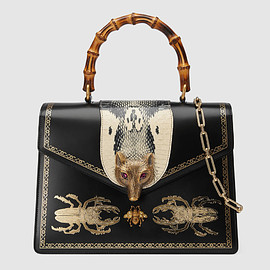 GUCCI - FW2017 Broche beetle print top handle bag
