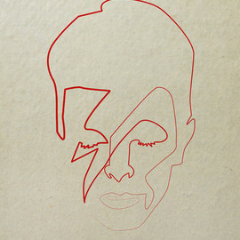 Quibe - One Line David Bowie Art Print