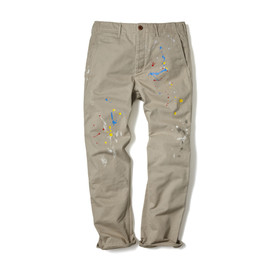 HEAD PORTER PLUS - BASIC CHINO PANTS / PAINT BEIGE