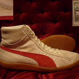 PUMA - UNKNOWN SUEDE HIGHTOPS(181 111 973)NATURAL/RED