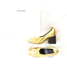 CELINE - gold ballerina shoes