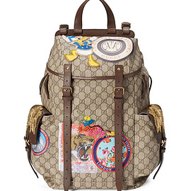 GUCCI - SS2017 Soft GG Supreme Backpack with Patches, Beige