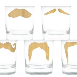 Peter Ibruegger - 24k Gold Moustache Tumblr Set
