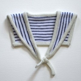 Handmade Knitted Sailor Collar