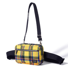 "HEAD PORTER - ""LESSON"" 2WAY WAIST BAG YELLOW"