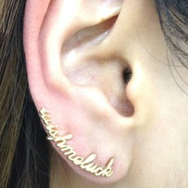 """ete - ■ete×一ツ山佳子 Collaborated Jewelry - Ear tattoo colleltion - """"wish me luck""""■"""