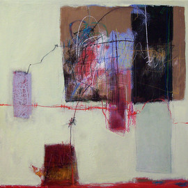 Anne-Laure Djaballah - tangles (mess), 2007, mixed media on canvas