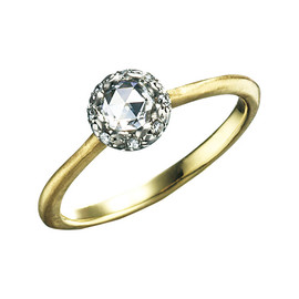 hum - rose cut ring