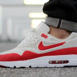 Nike - NIKE AIR MAX 1 ULTRA MOIRE SUMMIT WHITE/CHALLENGE RED-WHITE