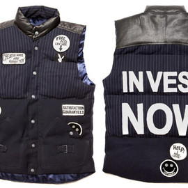 "Dr. Romanelli - Down Vest  -Dr. Romanelli x A Love Movement ""Dr. Love"" Collection Spring 2011-"