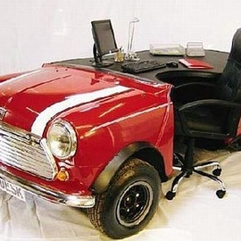 Customized Desk Designs from Converted Cars