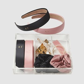The Daily Edited - Pink and Black Hair Set Box