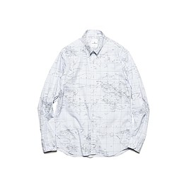 uniform experiment - WORLD MAP B.D SHIRT