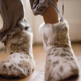MOORE & MOORE - LUXURY FAUX FUR SLIPPER BOOTS