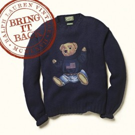 POLO RALPH LAUREN - Ralph Lauren Vintage   Bring It Back: The Polo Bear Sweater (1991)