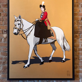 CONRAD LEACH - The Queen 2011 , 160 x 114cm