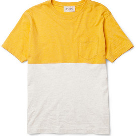 YMC  - Two-Tone Cotton T-Shirt
