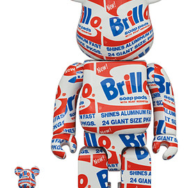"MEDICOM TOY - BE@RBRICK ANDY WARHOL ""Brillo"" 100% & 400%"