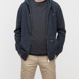 A.P.C. x Carhartt - Wool Hoodie in Anthracite