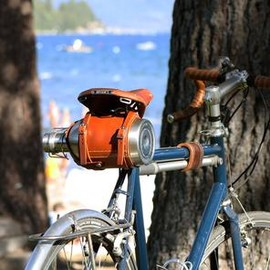 PEDAL HAPPY - Stainless Steel Growler & Leather Bike-Mounted Growler Carrier