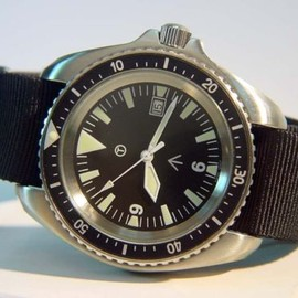British SAS SBS Satin Military ETA Dated 200m Divers Watch