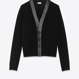 Saint Laurent - Cashmere and lambskin cardigan