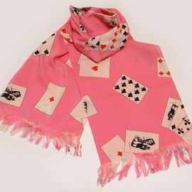 peel&lift - playing cards scarf (pink)