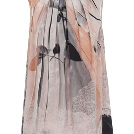 Alexander McQueen - Pleated Detail Printed Tank Top - Ivory,Model number: 651099QZACI9061