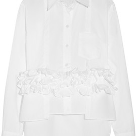 MARNI - Ruffled cotton-poplin shirt