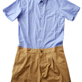 PARKER CLOTHING - Exchange Chambray All In One (sax×beige)