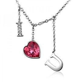 alanatt - SWAROVSKI ELEMENTS Design I Love U Necklace