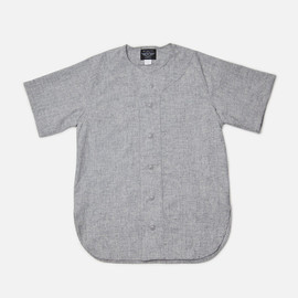 Ebbets Field Flannels for Inventory - Baseball Shirt - Grey Flannel Wool