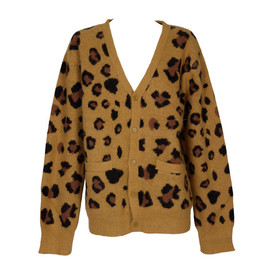 Chloe Sevigny for Opening Ceremony - Leopard Print Wool Cardigan