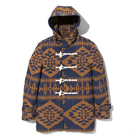 PENDLETON - Pendleton x DELUXE Hooded Jacket Navy/Brown