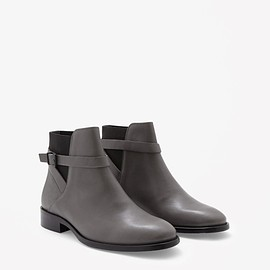 COS - Strap-detail leather boots