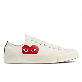COMME des GARCONS Play - Play Converse Chuck Taylor All Star '70 Low (White)