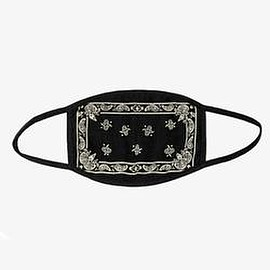 Profound - Bandana Black Paisley Cotton Face Mask