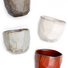 Faceted Boulder Cup Set