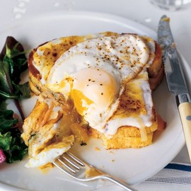 Martha Stewart - Smoked Salmon Croque Madames