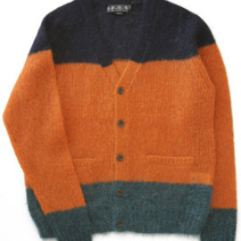 bal - Kid Mohair Tricolor Cardigan