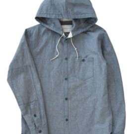 ANALOG LIGHTING - Hood Shirt (navy)