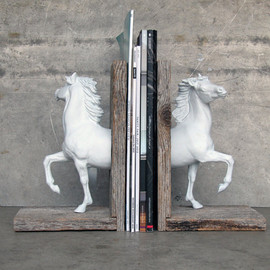 etsy - mustang bookends