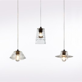 Tom Dixon - Tom Dixon Pressed Glass Pendants Web Image