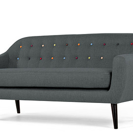 MADE+ - RITCHIE 3 seater sofa with rainbow buttons