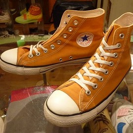 "converse - 「<used>90's converse ALLSTAR HI gold""made in USA"" size:US8/h(27cm) 7800yen」完売"