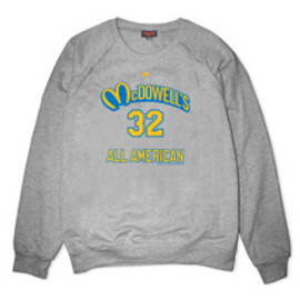 UNDRCRWN - MCDOWELLS ALL-AMERICAN CREWNECK SWEATSHIRT | GREY HEATHER