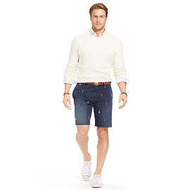 POLO RALPH LAUREN - CLASSIC-FIT EMBROIDERED SHORT